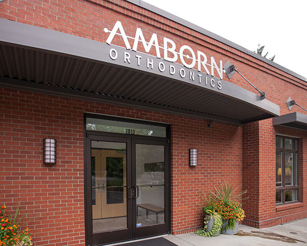 Exterior of office building of Amborn Orthodontics in Salem, OR.